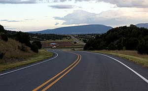 Ruidoso Downs, New Mexico - Road heading towards Capitan