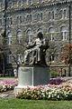 Healy Hall & John Carrol statue 08 2009 Georgetown U 6984.jpg