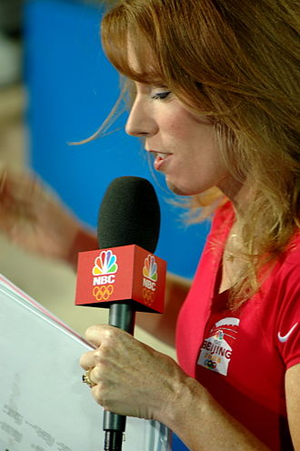 Heather Cox - Cox reporting for NBC Sports coverage of Beach Volleyball at the 2008 Summer Olympics