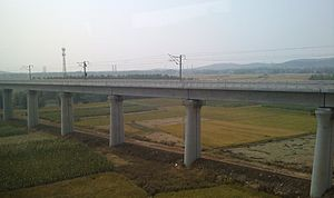 Hefei–Bengbu high-speed railway - Hefei–Bengbu high-speed railway near Bengbu South station