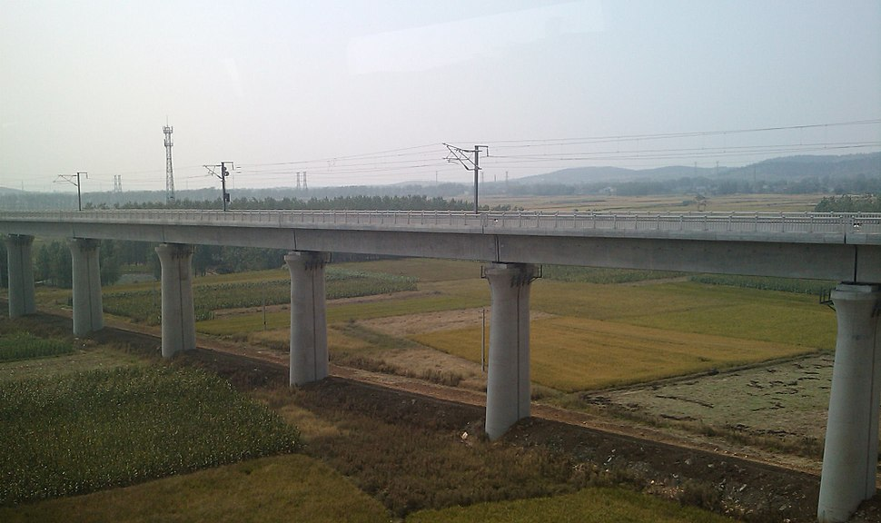 Hefei–Bengbu High-Speed Railway near Bengbu South Station