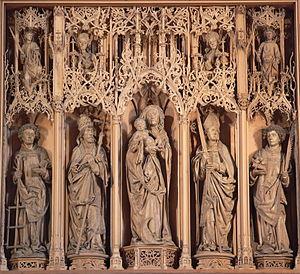 Hans Seyffer - Sculptures in the shrine of the altar of the Kilianskirche Heilbronn