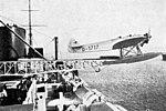 Heinkel HE 12 catapult launch SS Bremen L'Air September 15,1929.jpg