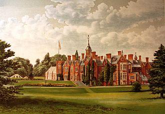 John Etherington Welch Rolls -  Woodblock print of The Hendre