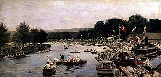Henley Royal Regatta - An 1877 painting by James Tissot showing the Old Course