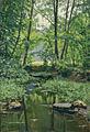 Henri Biva, Effet de lumière sur le ruisseau, oil on canvas, 61 x 46 cm.jpg