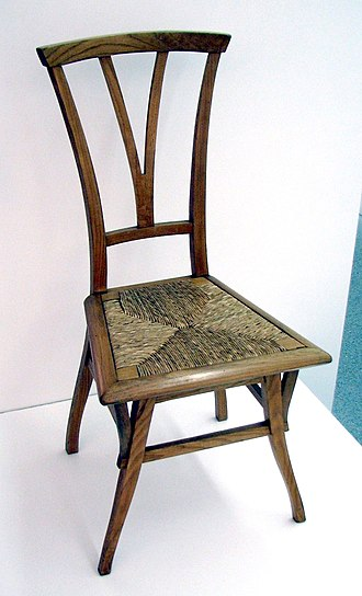 "Henry van de Velde - Chair designed for house ""Bloemenwerf"", 1895"