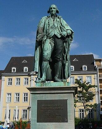 Max von Widnmann - Monument to Wolfgang Heribert von Dalberg, Mannheim