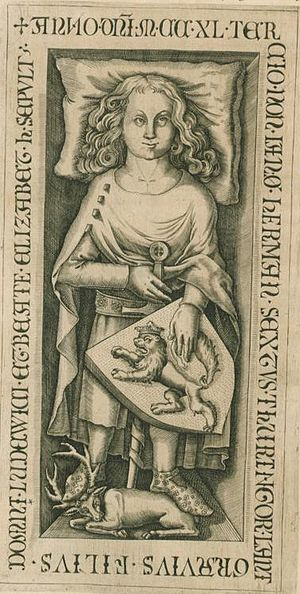 Hermann II, Landgrave of Thuringia - Image: Hermann I of Thuringia nahr
