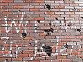 Herne Bunker Schulstraße bullet holes.jpg