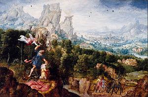 Herri met de Bles - Landscape with the Offering of Isaac