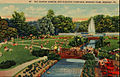 Hersheypark sunken garden and fountain 1948.JPG