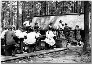 High Park Forest School - Mr. Brown's class at Forestry School in 1917
