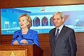 Hillary Clinton and Fawzi Salloukh, April 2009.jpg