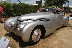 "André Dubonnet - Dubonnet also commissioned several unique cars to be built, such as this Hispano-Suiza H6C ""Xenia""."