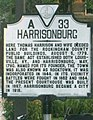 Historical marker A33 Court Square downtown Harrisonburg VA July 2008.jpg