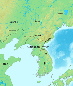 Location of Gojoseon