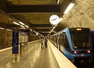 Hjulsta metro station - Image: Hjulsta T bana 2012a
