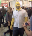 Homer Simpson cosplay at Antarctica Animecon 2016.png