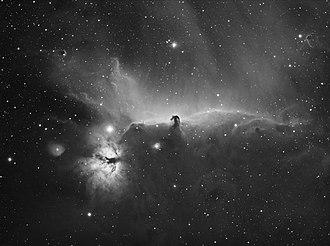 Horsehead Nebula - Image: Horse Head and Flame Nebula Hydrogen alpha 384mm scope stephan hamel wiki