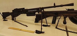 Hotchkiss M1922 machine gun - A Greek Hotchkiss M1922 chambered for 6.5×54mm Mannlicher–Schönauer at the Israel Defense Forces History Museum