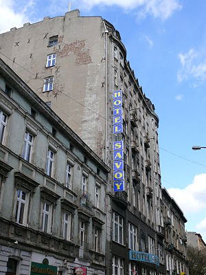 Hotel Savoy (novel) - Hotel Savoy in Łódź in 2007; it has since been renovated