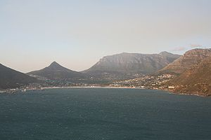 Strike Back: Project Dawn - The series was largely filmed in Cape Town, South Africa, with some scenes being shot in the suburb of Hout Bay (pictured).