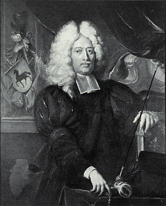 Samuel Frisching (II) - Samuel Frisching (1638–1721)  painted by Johann Rudolf Huber