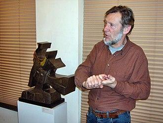 Hubert Minnebo - Hubert Minnebo at an exhibition in Oostende, Belgium