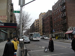 Fort Washington Avenue - Fort Washington Avenue south of 187th Street in the Hudson Heights part of Washington Heights