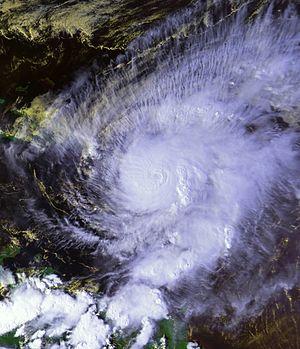 Hurricane Lenny - Hurricane Lenny south of Saint Croix