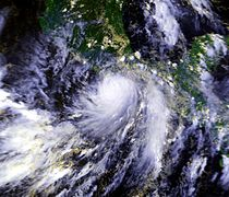 Hurricane Pauline, the easternmost Category 4 recorded at peak intensity on October 8, 1997