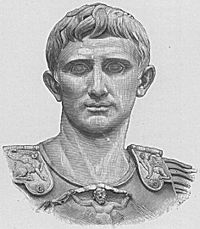 20th century drawing of Augustus. From the Augustus of Prima Porta.