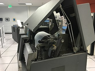 Carriage control tape - Image: IBM 1403 side view open.agr