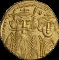 INC-3023-a Солид. Констант II, Константин IV. Ок. 661—668 гг. (аверс).png