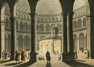 Church of the Holy Sepulchre, painted by Luigi Mayer Illustration from Views in the Ottoman Dominions by Luigi Mayer, digitally enhanced by rawpixel-com 64.jpg