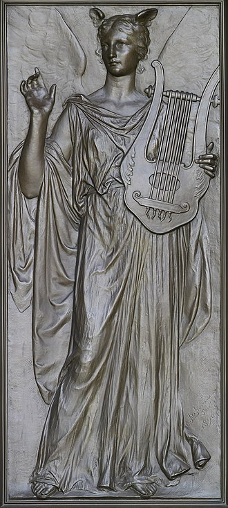 Imagination - Olin Levi Warner, Imagination (1896). Library of Congress Thomas Jefferson Building, Washington, D.C.