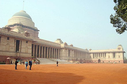 Rashtrapati Bhavan, the home of the President of India Indian President House.jpg