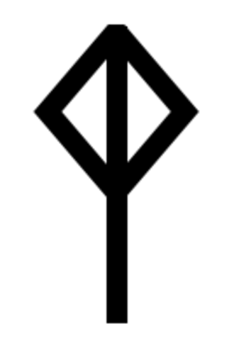 Runic transliteration and transcription - The i ͡ŋ bindrune.