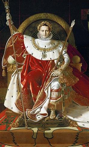 Наполеон на императорском троне. Энгр (1806)