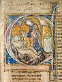 Initiale historiée Le Christ tend un livre à l'auteur.jpeg