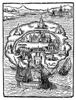 Original illustration from Thomas More's Utopia, via Wikipedia
