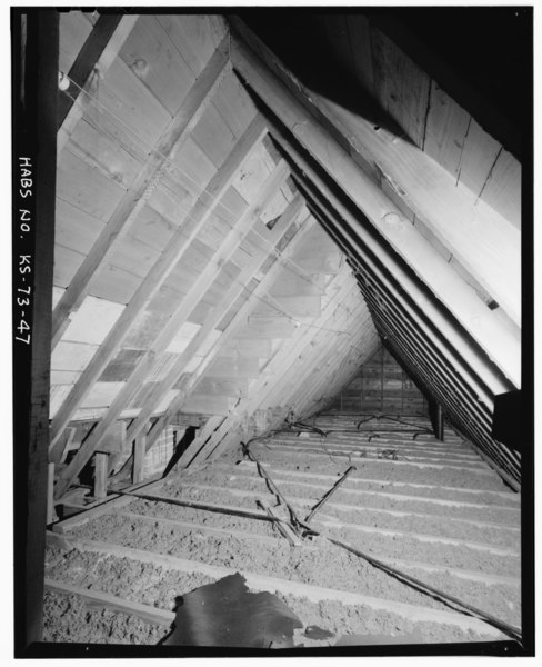 File interior view attic detail looking south in west - Interior car detailing wichita ks ...