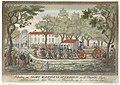 Intocht van Wilhelmina van Pruisen en haar kinderen in Den Haag, 1787 Inhaaling van Haare Koninglyk Hooghied en de Vorstelijke Telgen 24 September 1787 (titel op object), RP-P-1937-170.jpg