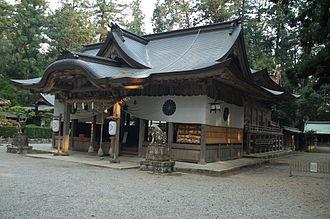 Iwa Shrine - One of the shrine buildings at Iwa jinja