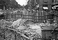 József körút, aluljáró építése az Üllői úti kereszteződésnél. Jobbra a Corvin (Kisfaludy) köz. Fortepan 17106.jpg
