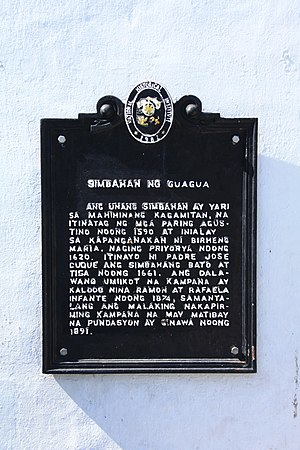 Immaculate Conception Church (Guagua) - Historical marker