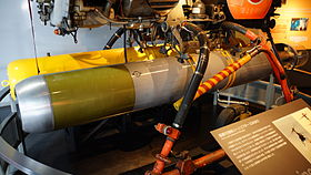 JMSDF Type 73 Light Weight torpedo in JMSDF Kure Museum 20140915-01.JPG