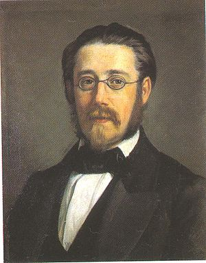 Hakon Jarl (Smetana) - Portrait of Bedřich Smetana painted in 1858, two years before he composed Hakon Jarl. The portrait is by the Swedish artist Per Södermark (1822–1889).