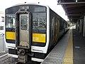 JR East Kiha E132-13 at Hitachi-Ōta Station.jpg